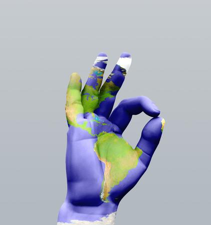 Human hand sign. Americas OK