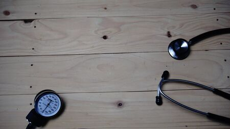 medical equipment that is seen in the image of a syringe syringe stethoscope with a black and white background