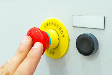 Activation or shutdown fuse box, with an emergency reset button.