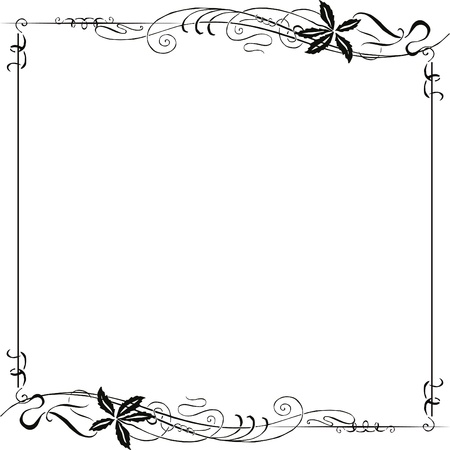 Decorating for the page with black Art Nouveau ornament