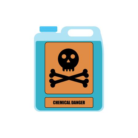 Illustration pour Vector illustration for bottle with substance chemical danger - image libre de droit