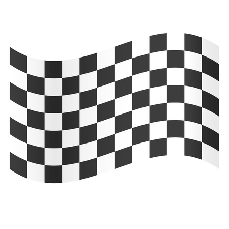 Illustration pour Finish flag. Symbol of championship. Racing flag. Black and white flag. Flat design. EPS 10. - image libre de droit