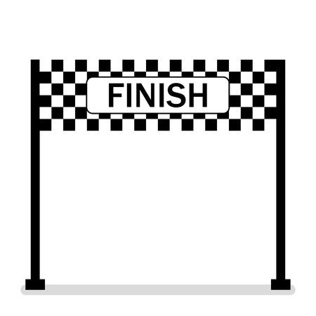 Illustration for Finish banner.Symbol of championship. Successful .Racing symbol. Finish line. Flat design. EPS 10. - Royalty Free Image