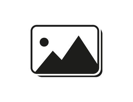 Ilustración de Image isolated icon. Symbol of gallery. Picture sign for web or application. - Imagen libre de derechos