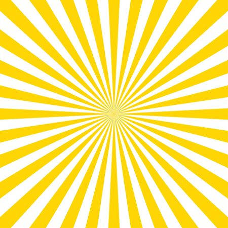 Illustration for Sunburst pattern vector background. Vector isolated illustration. Sunburst vintage style. Yellow vector rays. EPS 10 - Royalty Free Image