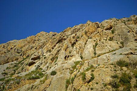 Rocky mountains near Jidalik lake, Kadamzhay area, Kyrgyzstan