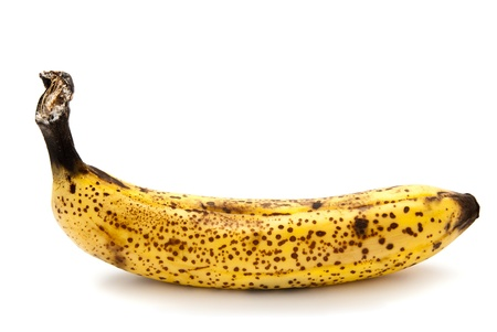 rotten banana isolated on a white background