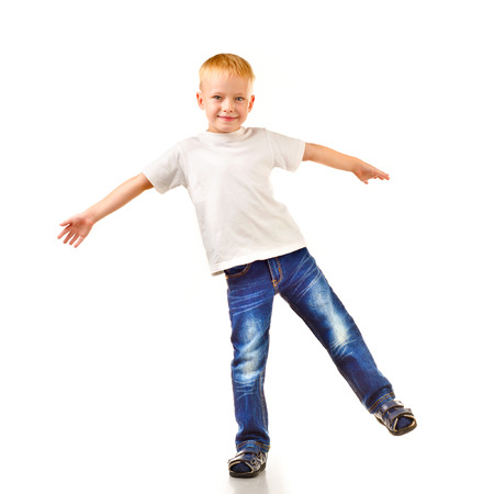Photo for little boy isolated on a white background - Royalty Free Image