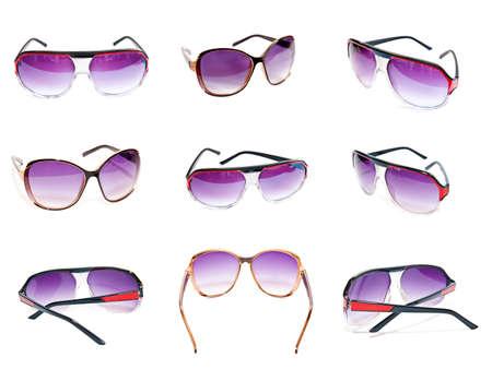 Foto de sunglasses collection isolated on a white background - Imagen libre de derechos