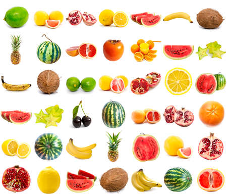 Photo pour fruits collection isolated on a white background - image libre de droit