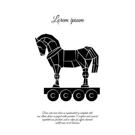 Illustration pour Trojan horse icon design - image libre de droit