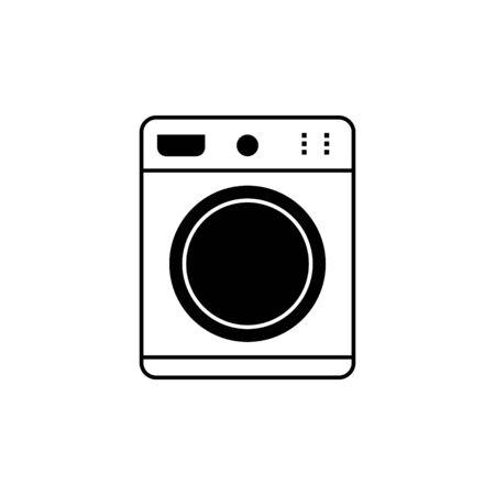 Illustration for washing machine line icon - Royalty Free Image