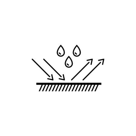 Illustration pour water repellent surface vector line icon - image libre de droit
