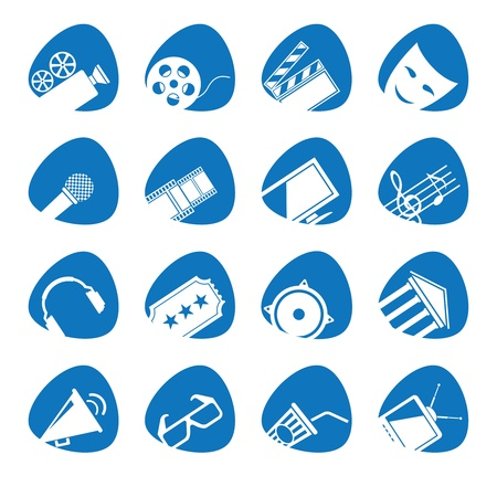 illustration icons on Film