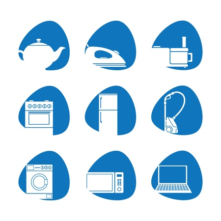 Vector illustration of household appliances