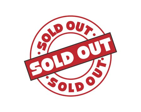 Illustration pour Sold out rubber stamp vector illustration on white background. Sold rubber stamp. Sold out imprint. Red sold stamp. - image libre de droit
