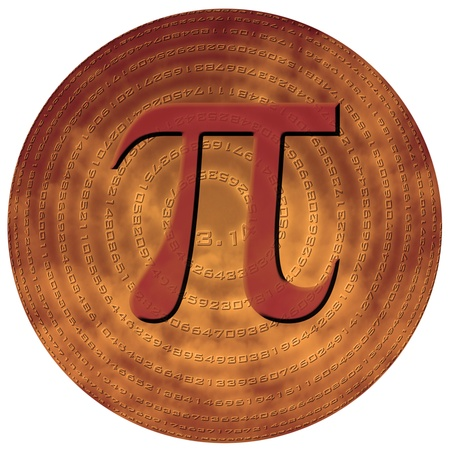 greek letter pi over sphere made of pi figures