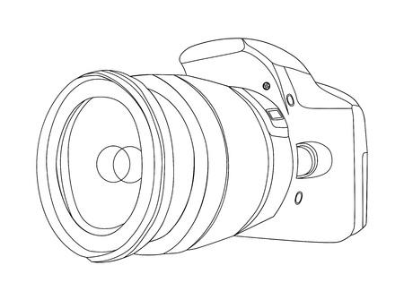 silhouette of digital camera vector illustration