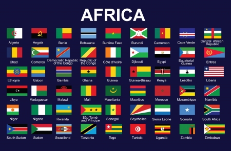 set of accurate flags of Africa  illustration