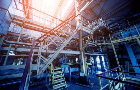 Foto für Equipment and pipeline in oil refinery. Industrial background - Lizenzfreies Bild