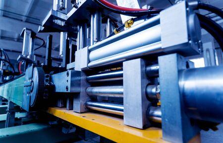 Photo pour Factory for aluminum and PVC windows and doors production. - image libre de droit