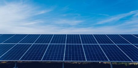Photo for Solar panels, photovoltaic alternative electricity source. Background. - Royalty Free Image