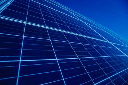 Photo pour Solar panels, photovoltaic alternative electricity source. Background - image libre de droit