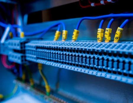 Foto für Voltage switchboard with circuit breakers. Electrical background - Lizenzfreies Bild