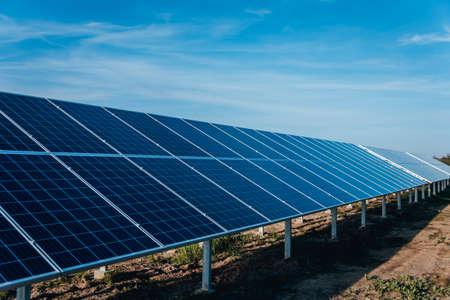 Photo pour Solar panels, photovoltaic alternative electricity source. Background. - image libre de droit