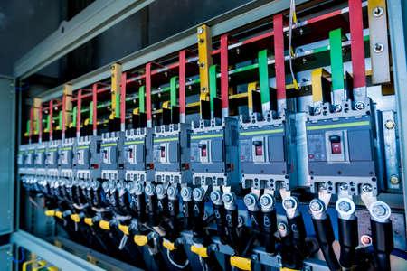 Photo pour Compartment of electrical equipment in a complete transformer substation - image libre de droit