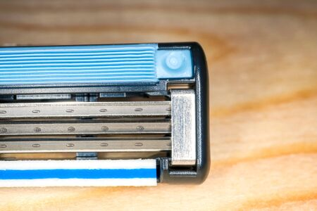 Photo for disposable razor blade close up a macro. High quality photo - Royalty Free Image