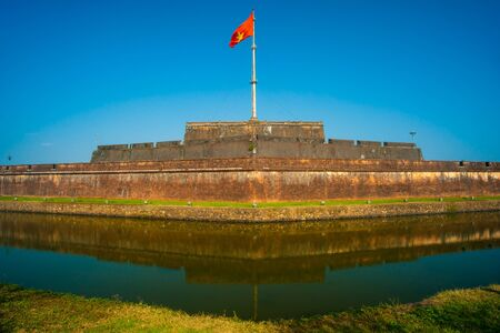 The Flag Tower (Cot Co) in the Citadel of Hue city, Vietnam