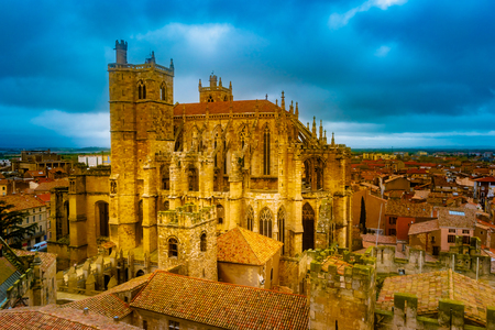 Gothic Cathedral of Narbonne, city in the south of France.