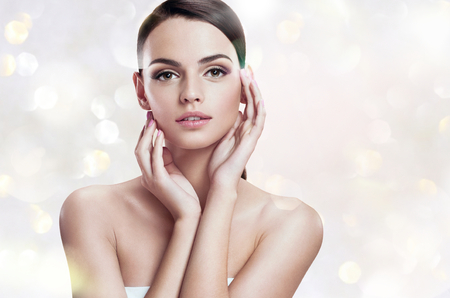Charming young woman, youth and skin care concept
