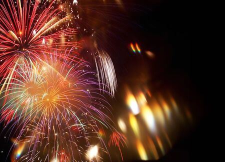 Photo for New Year abstract fireworks background - Royalty Free Image