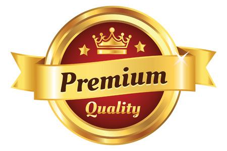 Illustration pour High Quality Golden Premium Badge - image libre de droit