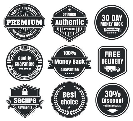 Dark Vintage Ecommerce Badges
