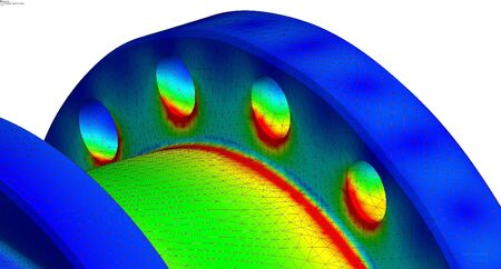 Photo for local von mises stress results of a finite element analysis - Royalty Free Image