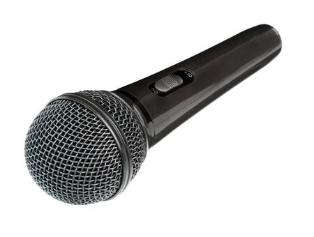 Photo pour Microphone isolated on white background. Wireless mic. Speaker concept. - image libre de droit