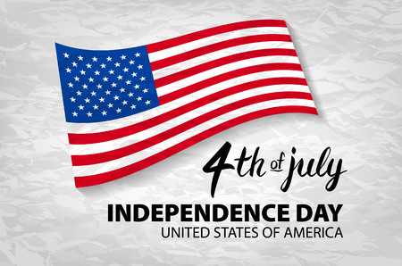 Fourth of July USA Independence Day greeting card. 4 th of July. United States of America celebration wallpaper. national holiday US flag card design. art