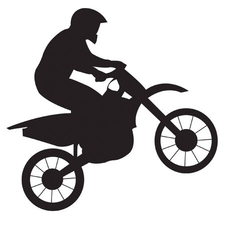 Illustration pour Racer on motorcycle - image libre de droit