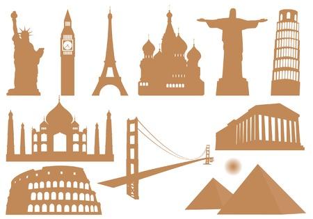 Illustration pour Landmark Icons - image libre de droit