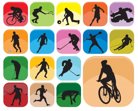 Illustration pour Sports Icons. Vector illustration - image libre de droit