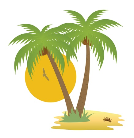 Illustration for Tropical island - Royalty Free Image