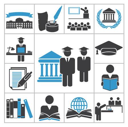 Illustration pour High education icons  Vector set for you design - image libre de droit