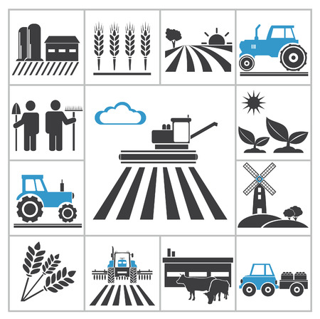 Agriculture icons  Vector set for you design