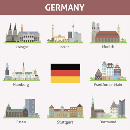 Germany  Symbols of cities  Vector set