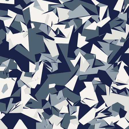 Foto de Abstract Vector Blue Military Camouflage Background. Pattern of Geometric Triangles Shapes - Imagen libre de derechos