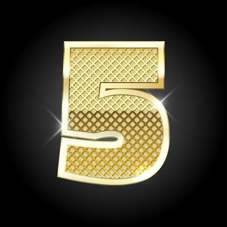 metal gold letter of number