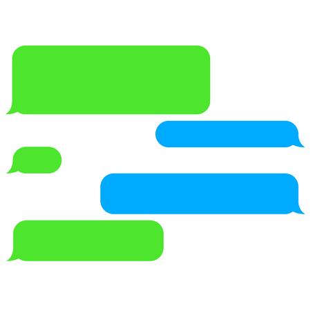 Illustration pour Vector flat phone chat bubbles. Sms messages. Speech bubbles. Short message service bubbles. - image libre de droit